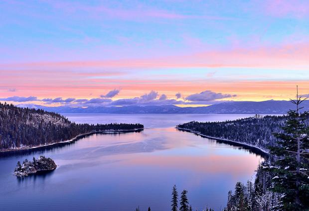 心灵的世外桃源,北美最大的高山湖---太浩湖